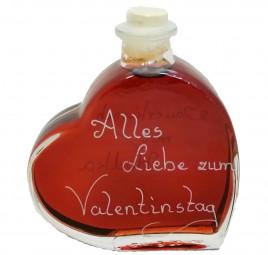 Herzflasche 200ml zum Valentinstag