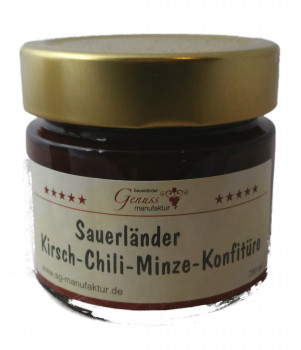 Kirsch-Chili-Minze Konfitüre 200ml
